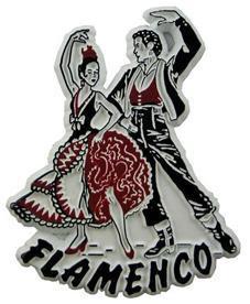 Flamenco Dancers Spain Souvenir Magnet
