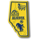 Canadian Province Magnet Alberta with Capital