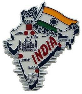 India country shaped magnetic map