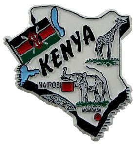 Kenya country shaped magnetic map