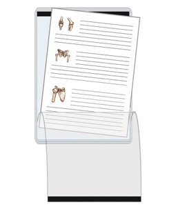 8.5 x 11 Magnetic Document Holder with Flap vertical