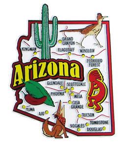 Phoenix Usa Map: Arizona USA Map State Magnet: Magnetic Maps Of All 50
