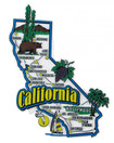 USA map state magnet - CA