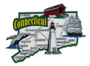 USA map state magnet - CT