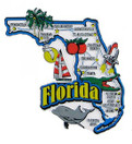 USA map state magnet - FL