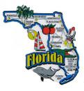 USA map state magnet - FL