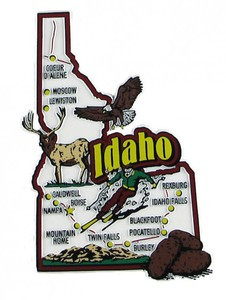 USA map state magnet - ID