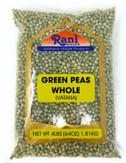 Rani Green Peas Whole, Dried (Vatana, Matar) 4lbs (64oz) ~ All Natural | Vegan | Gluten Friendly | Product of USA