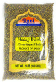 Rani Moong Whole (Ideal for cooking & sprouting, Whole Mung Beans with skin) Lentils Indian 2lbs (32oz) ~ All Natural | NON-GMO | Vegan | Indian Origin