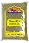 Rani Moong Whole (Ideal for cooking & sprouting, Whole Mung Beans with skin) Lentils Indian 8lbs (128oz) Bulk ~ All Natural | NON-GMO | Vegan | Indian Origin
