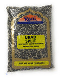 Rani Urid / Urad Split (Matpe beans split with skin) Indian Lentils 4lb (64oz) ~ All Natural | Indian Origin | Gluten Free Ingredients | NON-GMO | Vegan