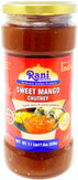 Rani Sweet Mango Chutney (Indian Preserve) 17.5oz (500g) 1.1lbs Glass Jar, Ready to eat, Vegan ~ Gluten Free Ingredients, All Natural, NON-GMO