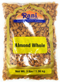 Rani Almonds, Raw Whole With Skin (uncooked, unsalted) 56oz (3lb) ~ All Natural | Vegan | Gluten Friendly | Fresh Product of USA ~ California Shelled Almonds