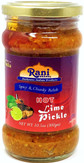Rani Lime Pickle Hot (Achar, Spicy Indian Relish) 10.5oz (300g) ~ Glass Jar, All Natural | Vegan | Gluten Free | NON-GMO | No Colors | Popular Indian Condiment, Indian Origin