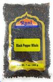 Rani Black Pepper Whole (Peppercorns), Premium Indian MG-1 Grade 7oz (200g) ~ Gluten Friendly, Non-GMO, Natural, Perfect size for Grinders!