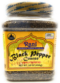 Rani Black Pepper Coarse 16oz (454g)