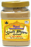 Rani Black Pepper Fine Powder 80 Mesh, Premium Indian 16oz (454g) ~ Gluten Friendly, Non-GMO, Natural