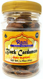 Rani Black Cardamom Pods (Kali Elachi) Whole Indian Spice 1.75oz (50g) Pet Jar ~ Natural | Vegan | Gluten Free Ingredients | NON-GMO | Indian Origin ~ Smokey | Tsaoko | Cao Guo | Bach Dan Khau | Badi