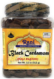 Rani Black Cardamom Pods (Kali Elachi) Whole Indian Spice 11oz (312g) Pet Jar ~ Natural | Vegan | Gluten Free Ingredients | NON-GMO | Indian Origin ~ Smokey | Tsaoko | Cao Guo | Bach Dan...