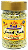 Rani Fennel Seeds (Saunf Sabut) Whole Spice 2.75oz (78g) All Natural ~ Gluten Friendly | NON-GMO | Vegan | Indian Origin