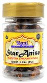 Rani Star Anise Seeds, Whole Pods (Badian Khatai) Spice 1.25oz (35g) PET Jar ~ All Natural ~ Gluten Friendly  | NON-GMO | Vegan | Indian Origin
