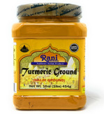Rani Natural Turmeric (Haldi) Root Powder Spice, (High Curcumin Content) 16oz (454g) 1lb ~ 100% Pure, Salt Free | Vegan | Gluten Free Ingredients | NON-GMO | Indian Origin