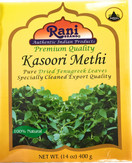 Rani Fenugreek Leaves Dried, All Natural (Kasoori Methi) 400g (14oz) ~ Gluten Free Ingredients | NON-GMO ~ Vegan