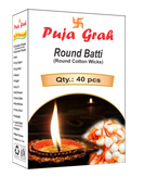 Puja Grah Round Batti (Round Cotton Wicks)