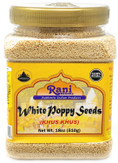 Rani White Poppy Seeds Whole (Khus Khus) Spice 18oz (510g) ~ Natural | Vegan | Gluten Free Ingredients | NON-GMO | Indian Origin
