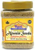 Rani Ajwain Seeds (Carom Bishops Weed) Spice Whole 16oz (454g) ~ Natural | Vegan | Gluten Friendly| NON-GMO | Indian Origin