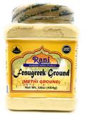 Rani Fenugreek (Methi) Seeds Ground Powder 16oz (454g) Trigonella foenum graecum | Gluten Free | Non-GMO (used in cooking & Ayurvedic spice)
