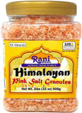 Rani Himalayan Pink Salt Granules (84 Essential Trace Minerals) 32oz (908g) PET Jar ~ All Natural | Vegan | Gluten Free Ingredients | NON-GMO