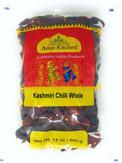 Asian Kitchen Kashmiri Chilli Whole, Low Heat Indian Chilli 14oz (400g) ~ All Natural | Vegan | Gluten Friendly | NON-GMO | Indian Origin
