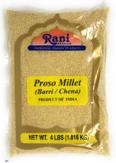Rani Proso Millet (Panicum Millaceum) Whole Ancient Grain Seeds 4 Pound, 4lbs (64oz) ~ All Natural | Gluten Friendly | NON-GMO | Vegan | Indian Origin | Barri / Chena / Variga / Baragu