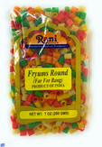 Rani Far Far / Fryums (Wheat & Tapioca Pellet) Round/Pipe Shape 7oz (200gm) ~ Vegan, Uncooked, Used to make papad / chip snack