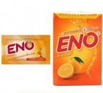 Eno Fruit Salt Orange Antacid Powder Baking Soda for Indigestion, Heartburn, Flatulence 30 Sachets 5 g Each by Eno