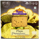 Rani Pappadums (Indian Lentil Wafer Snack) Plain 7 ounce (200g) Approximately 15pc, 7 inches ~ All Natural, Gluten Free | NON-GMO | Vegan | Indian Origin