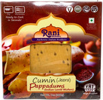 Rani Pappadums (Indian Lentil Wafer Snack) Jeera (Cumin) 7 ounce (200g) Approximately 15pc, 7 inches ~ All Natural, Gluten Free | NON-GMO | Vegan | Indian Origin