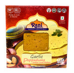 Rani Pappadums (Indian Lentil Wafer Snack) Garlic 7 ounce (200g) Approximately 15pc, 7 inches ~ All Natural, Gluten Free | NON-GMO | Vegan | Indian Origin