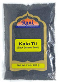 Rani Sesame Seeds Whole Black, Raw (Kala Till) 7oz (200g) ~ All Natural | Gluten Free Ingredients | NON-GMO | Vegan | Indian Origin
