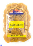 Rani Pani Puri Coins 7oz (200g) ~ Uncooked, Microwaveable wheat and Semolina Coins ~ All Natural | Vegan | NON-GMO