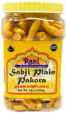 Rani Sabji Pakora 14oz (400g) PET Jar ~ Plain, Gluten Friendly ~ All Natural | Vegan | No Preservatives | No Colors | Indian Origin