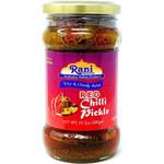 Rani Red Chilli Pickle Hot (Achar, Spicy Indian Relish) 10.5oz (300g) ~ Glass Jar, All Natural | Vegan | Gluten Friendly | NON-GMO | No Colors | Popular Indian Condiment, Indian Origin