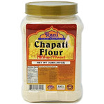 Rani Chapati Flour (100% Pure) 3lbs (48oz) for making roti & Indian breads ~ PET Jar, All Natural | Vegan | No Salt or Colors | NON-GMO | Indian Origin