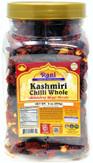 Rani Kashmiri Chilli (Deggi Mirch, Low Heat) Whole Indian Spice 9oz (255g) PET Jar ~ All Natural, Salt-Free | Vegan | No Colors | Gluten Friendly | NON-GMO | Indian Origin