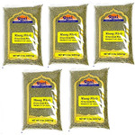 Rani Moong Whole (Ideal for cooking & sprouting, Whole Mung Beans with skin) Lentils Indian 8lb (128oz) Pack of 5 (Total 40lbs) Bulk ~ All Natural | NON-GMO | Vegan | Indian Origin