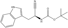Boc-(S)-2-amino-3-(3-indolyl)propionitrile