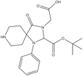 Boc-3-carboxymethyl-1-phenyl-1,3,8-triazaspiro[4.5]decan-4-one