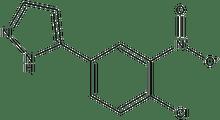 5-(4-chloro-3-nitrophenyl)-1H-pyrazole 500 mg