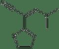 3-(dimethylamino)-2-(2-thienyl)acrylonitrile 500 mg